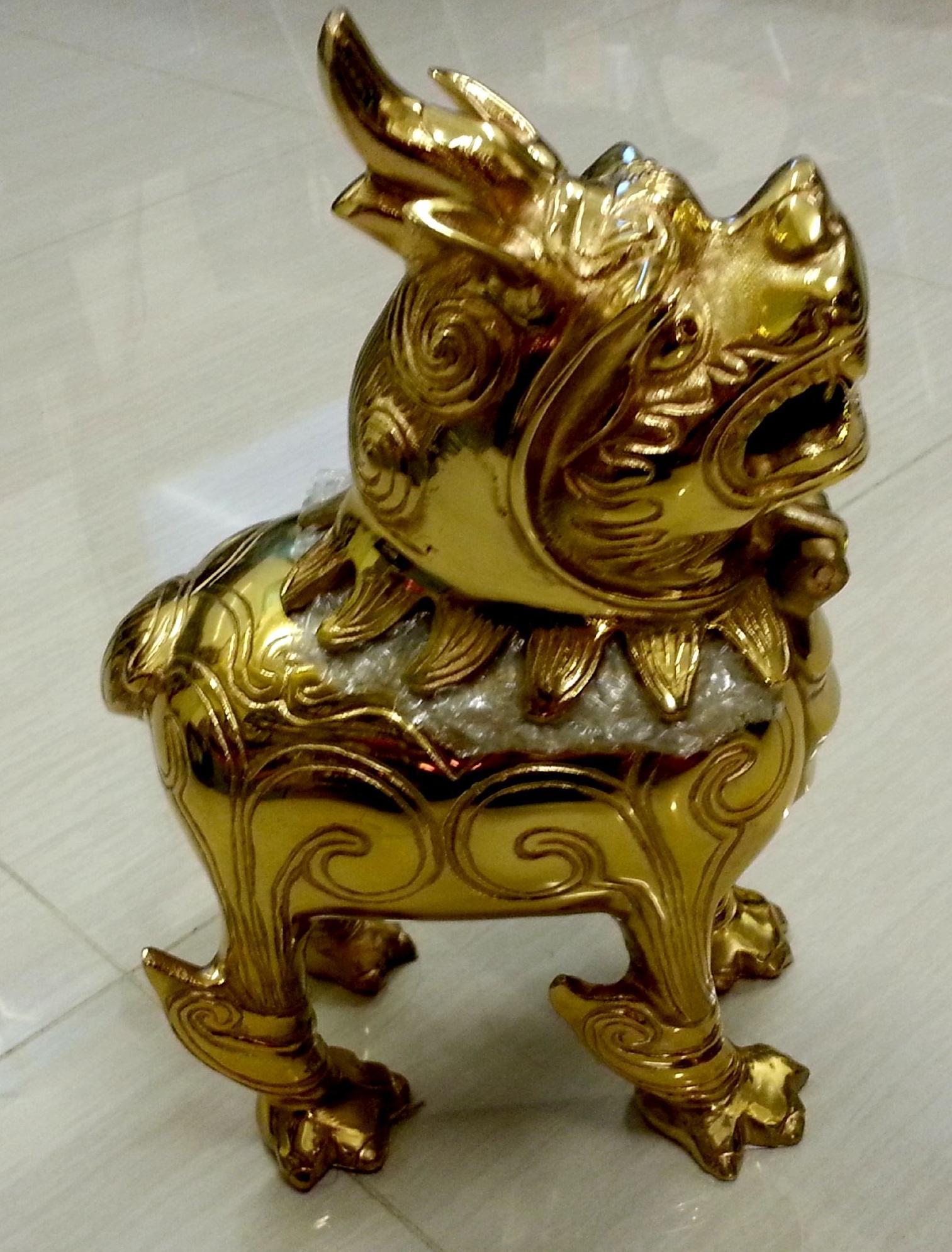 鍍金銅貔貅 連 饀(大)