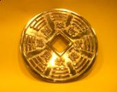 八卦4'' 銅錢餅